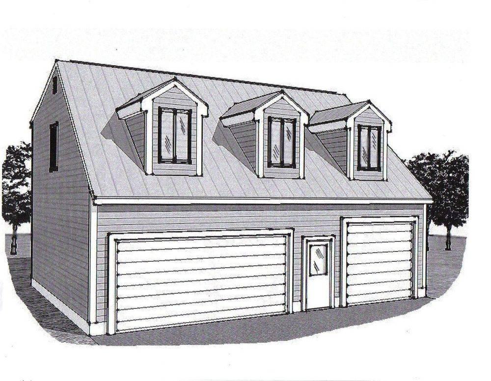 Car Garage Building Plans Dormered Loft