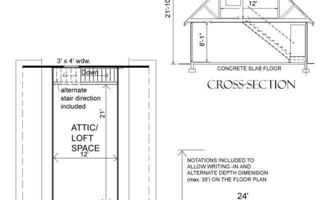 Car Garage Loft Plan Behm Design