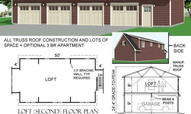 Car Garage Plan Loft Behm Plans