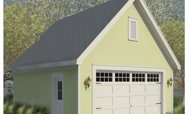 Car Garage Plans Double Plan Front Facing