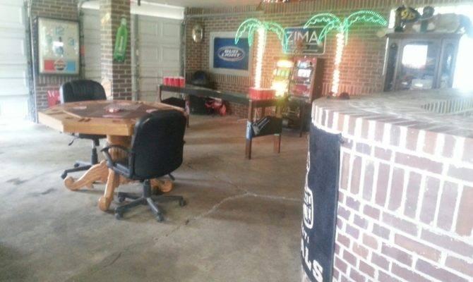 Car Garage Turned Man Cave Perfect