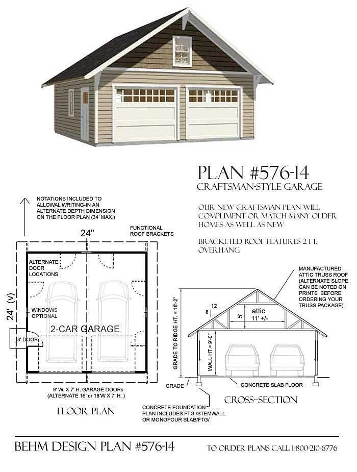 Car Pdf Garage Plans Behm Design
