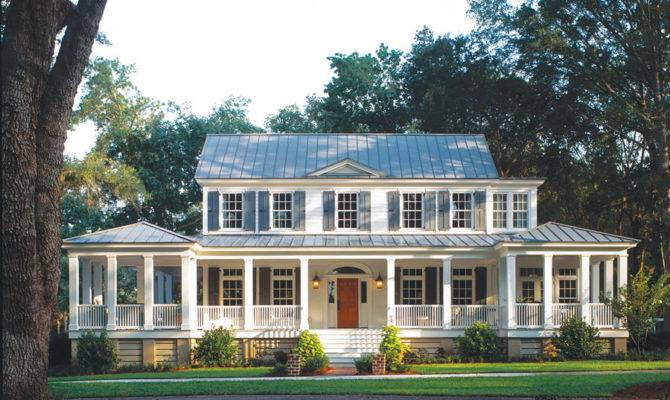 Carolina Island House Plan Plans Porches