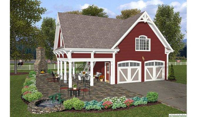 Carriage House Plans Bedroom Garage Apartment