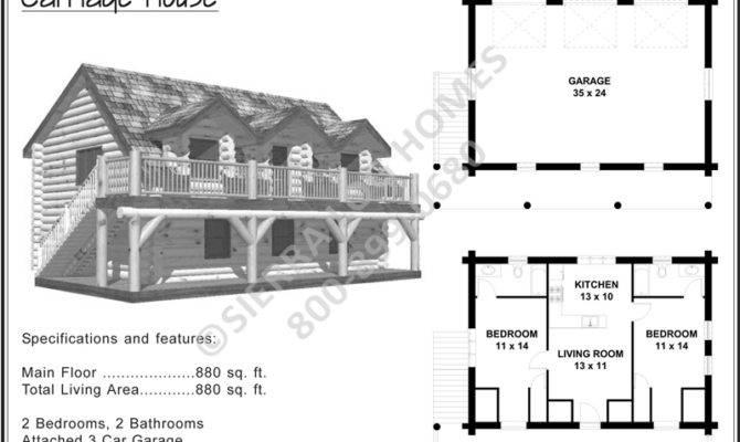 Carriage House Sierra Log Homes