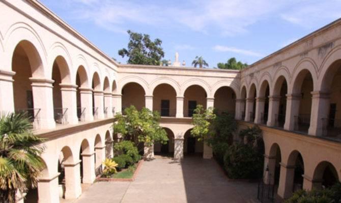 Casa Del Prado Courtyard Interior Balboa Park