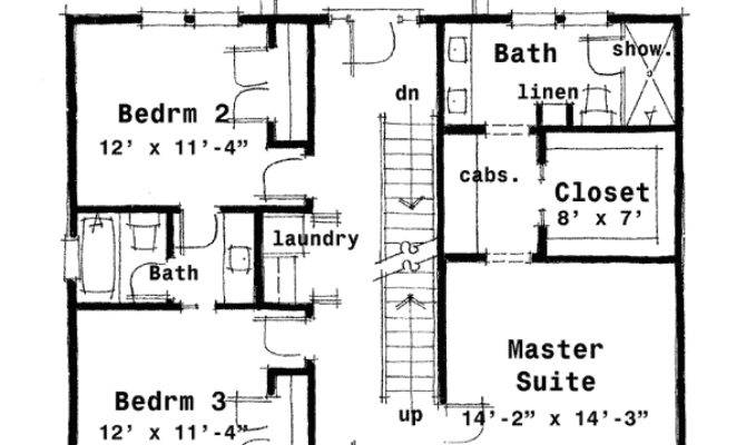 Center Hall Colonial House Plan Architectural