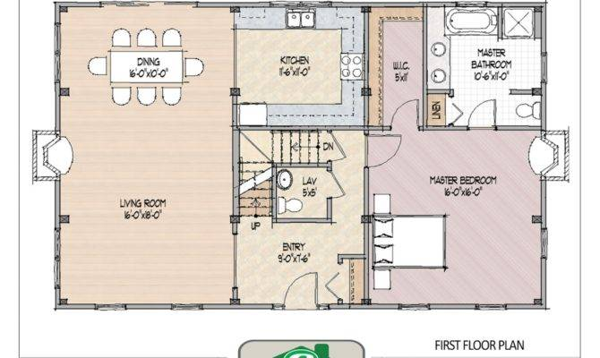 Center Hall Colonial Open Floor Plans Plan
