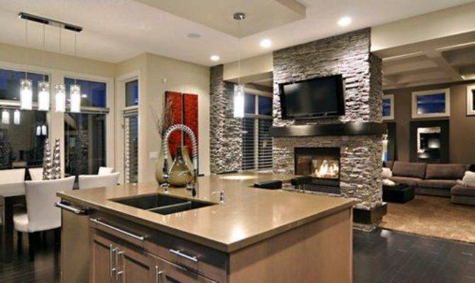 Center Room Fireplace Houzz