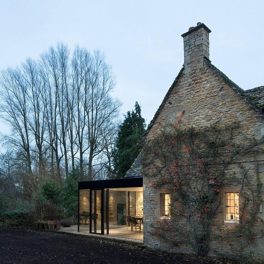 Century British Cottage Gets Glassy Modern Extension