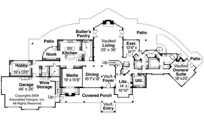 Chalet House Plan Coeur Alene Floor