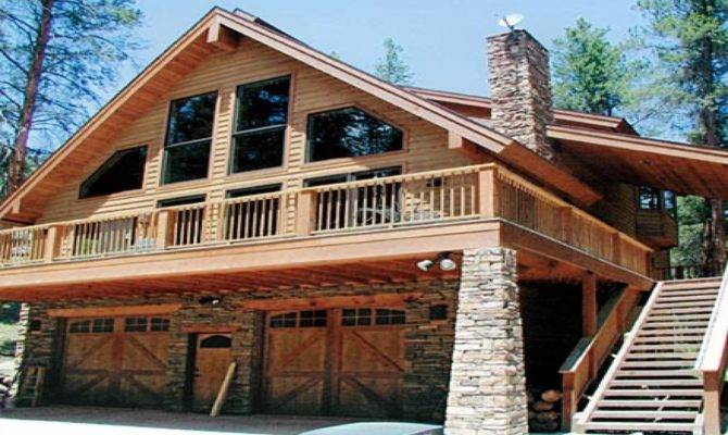 Chalet Style Homes Attached Garage House