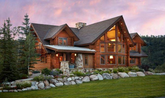 Charming Log Residence Colorado Unveiling Spectacular