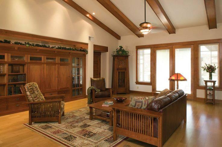 Cherry Built Ins Craftsman Room Hartmanbaldwin Design Build