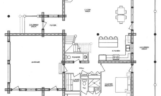 Cheyene Log Home Floor Plan Main