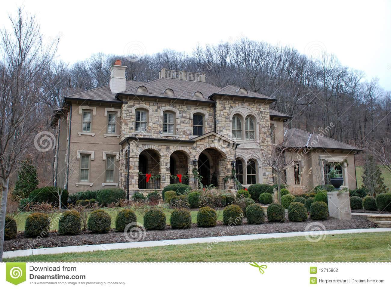 Christmas Stone Luxury Home Photography