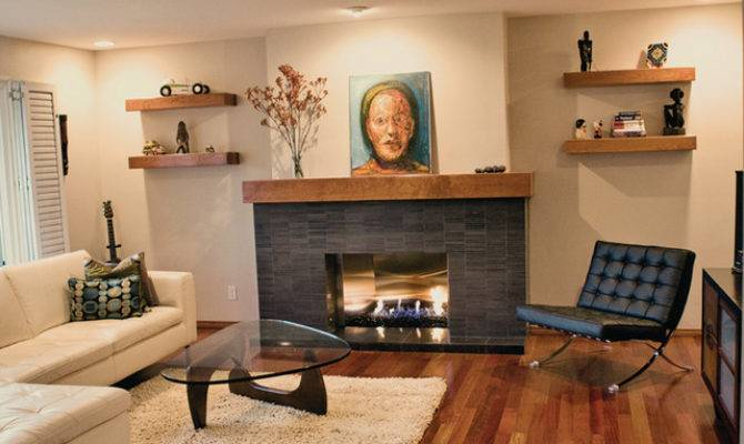 Clairemont Remodel Modern Living Room San Diego