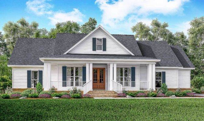 Classic Bed Country Farmhouse Plan