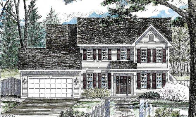 Classic Colonial House Plan Architectural