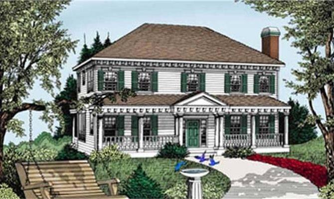 Classic Georgian Colonial House Plan Growing Families