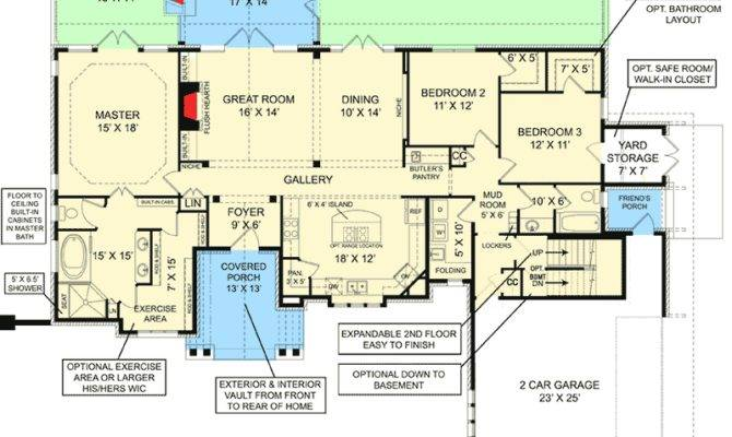 Classic House Plan Law Apartment Option