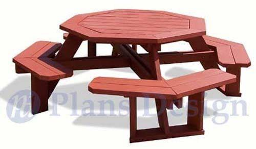 Classic Octagon Picnic Table Woodworking Plans