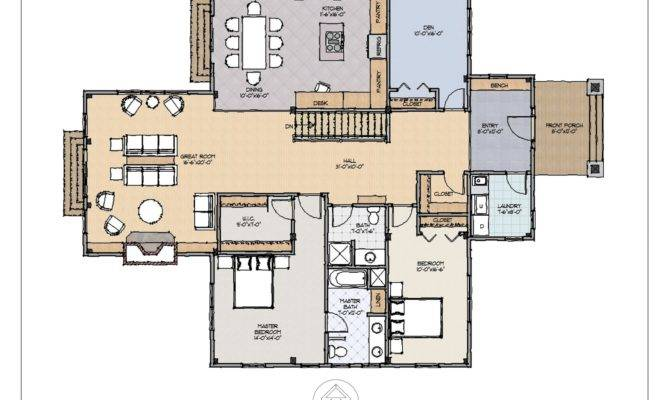 Classic Style Ranch Floor Plan Features Spacious Layout