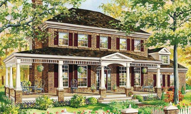 Classic Traditional House Plan Floor