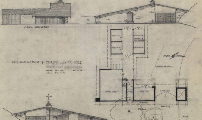 Cliff May House Plans Design