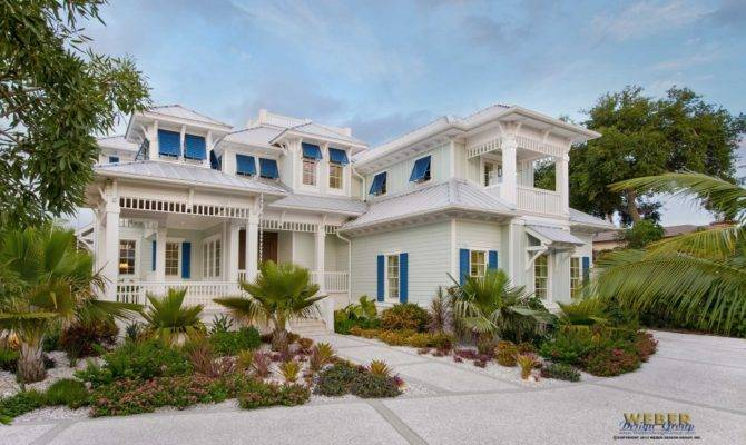 Coastal Caribbean House Plan Naples Architecture Weber Design