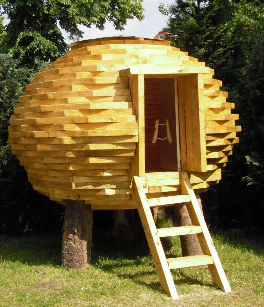 Coco Hut Outdoor Shed Made Scrap Wood Inhabitat
