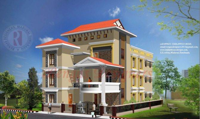 Collections Three Floor Building Design Exterior