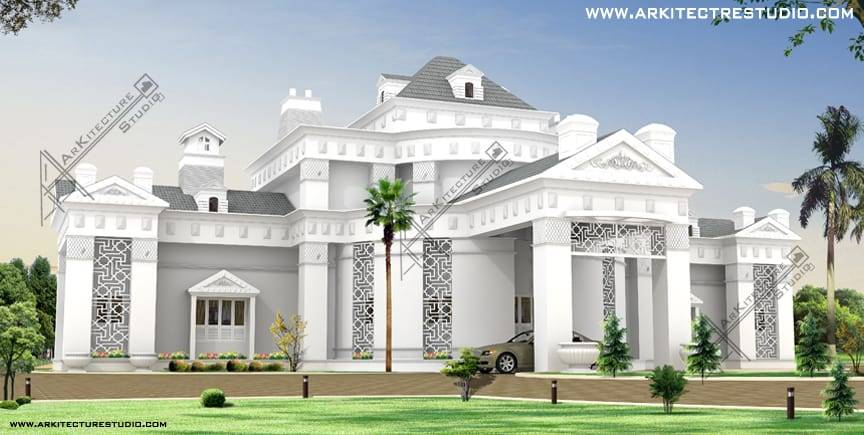 Colonial Luxury House Designs India Love