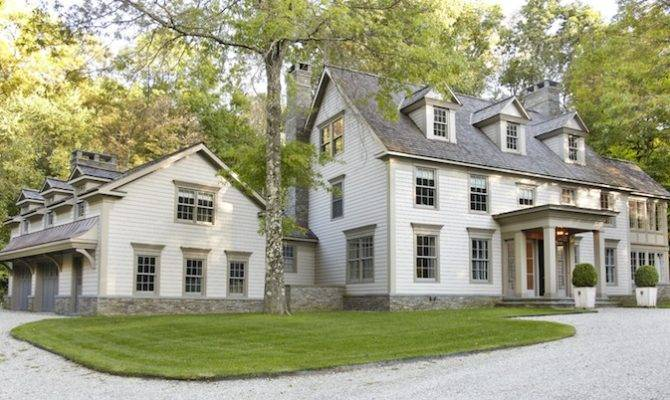Colonial Revival Style Home Guest House Above Two Car Garage
