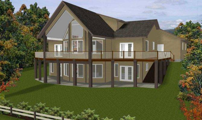 Colonial Style Hillside Home Plans Natural