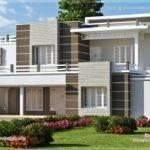 Color Contemporary Home Design Kerala Floor Plans