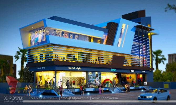 Commercial Building Design Shopping Mall