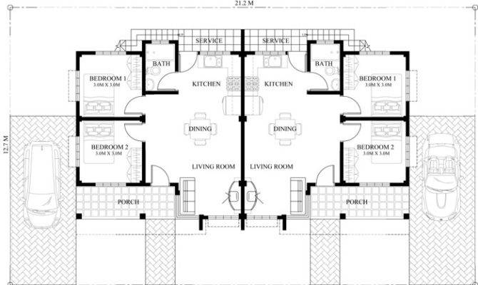Conchita Bedroom Duplex House Plan Pinoy Plans