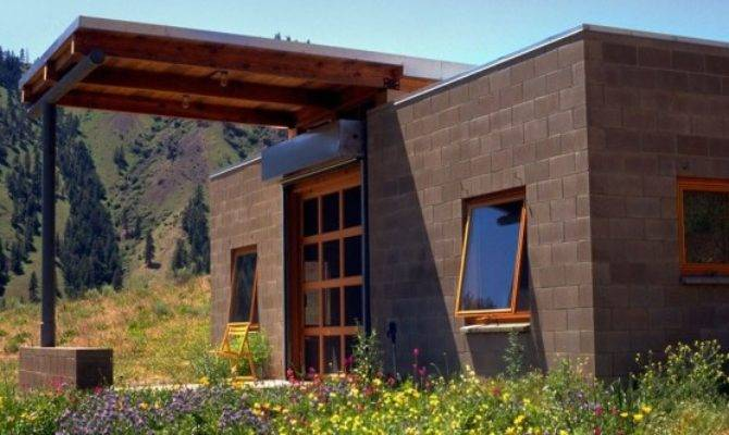 Concrete Block Tiny Home