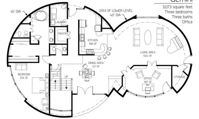Concrete Dome House Plan Fantastic Cool Floor
