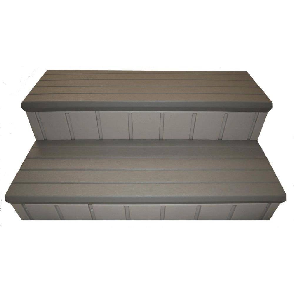 Confer Plastics Hot Tub Steps Gray