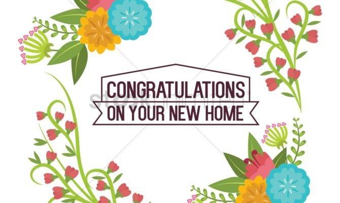 Congratulations Your New Home Vector