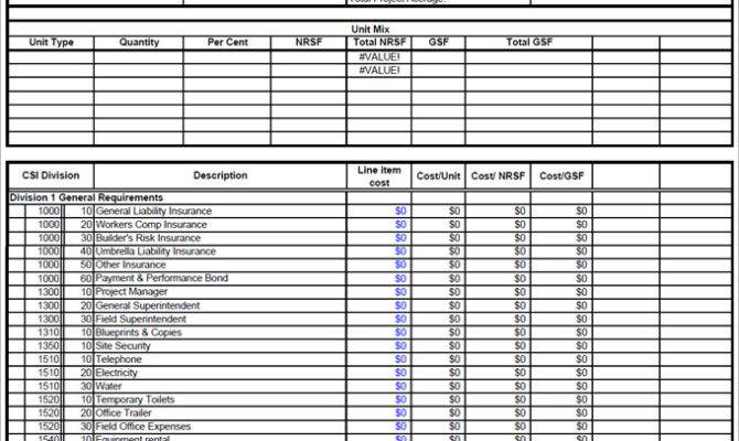 Construction Budget Templates Word Excel Pdf