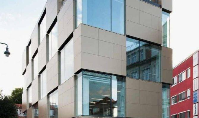 Contemporary Building Has Many Windows Home