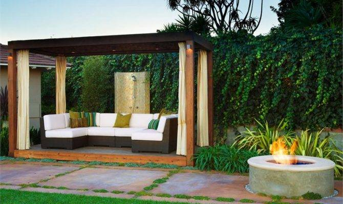 Contemporary Cabana Take Outside Fresh Outdoor Living Spaces