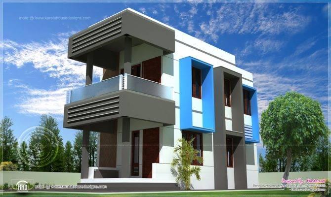 Contemporary Compact Villa Design Kerala Home Floor Plans