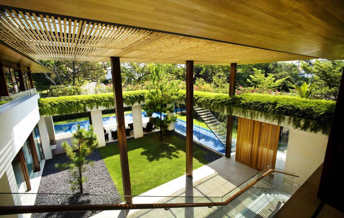 Contemporary Courtyard House Singapore Idesignarch Interior