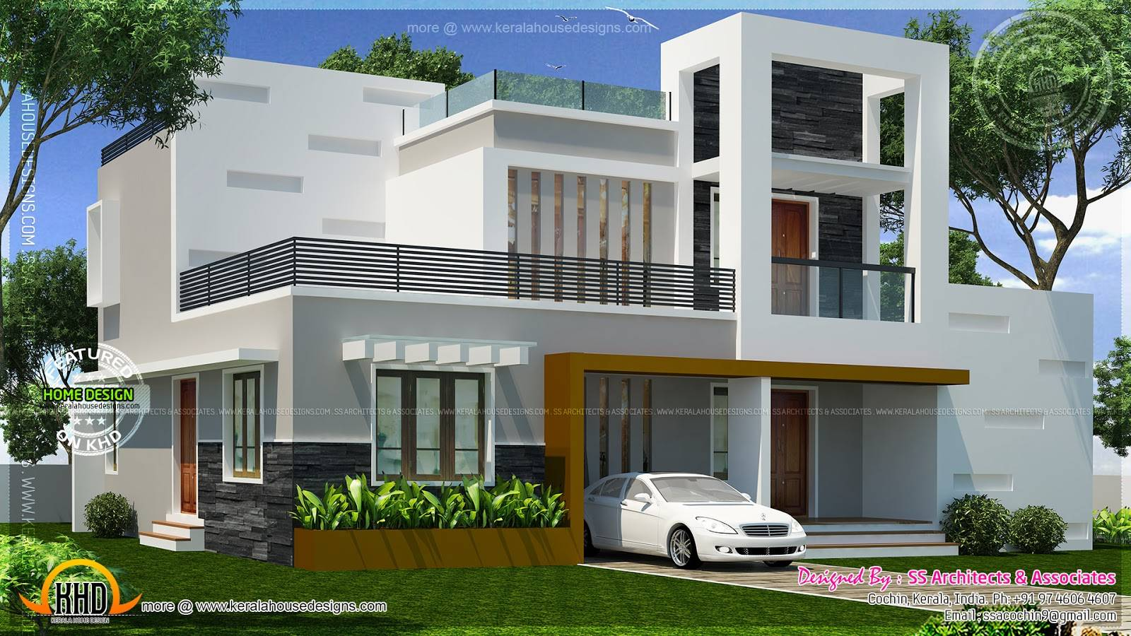 Contemporary Double Storied Small Villa Kerala Home