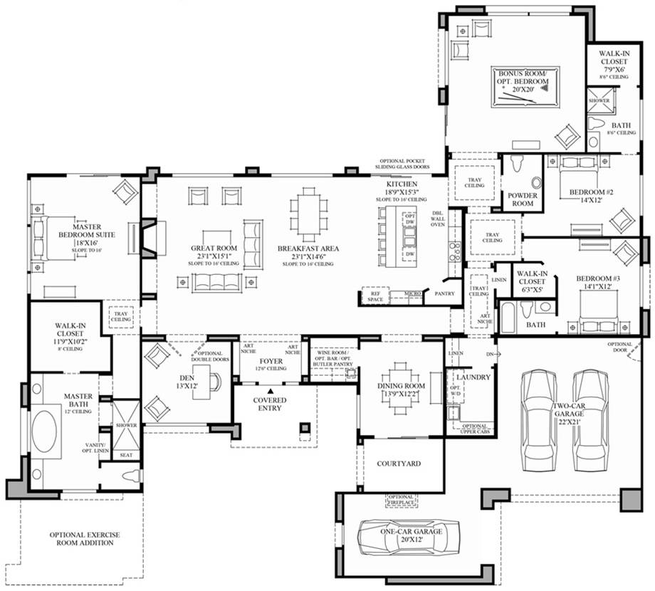 Contemporary Floor Plan
