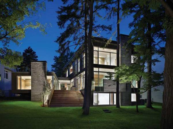 Contemporary House Architecture Ravine Urban Canada